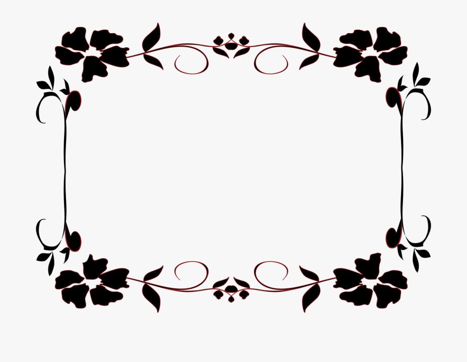 White Floral Border Png Transparent Image.