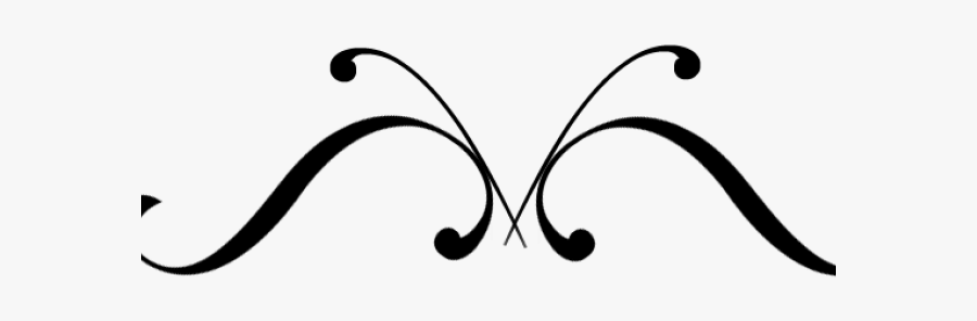 Flourish Png Black And White , Free Transparent Clipart.