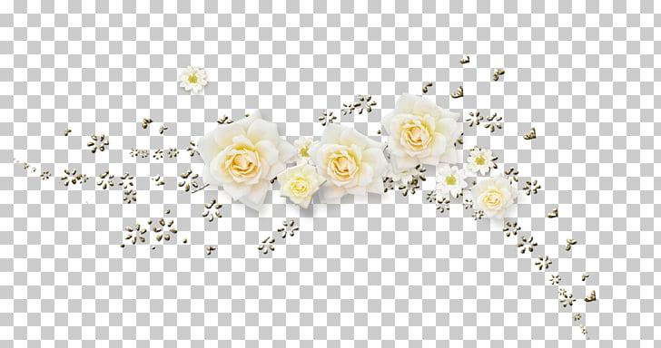 Flower Gold, Glitter, white roses PNG clipart.