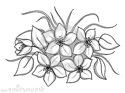 Flower Bouquet Clipart Black And Whiteflower Flower Bouquet.