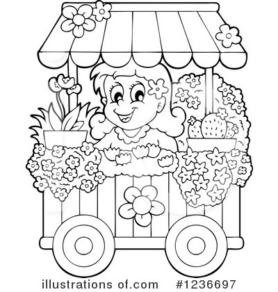 Flower Shop Clipart Black And White.