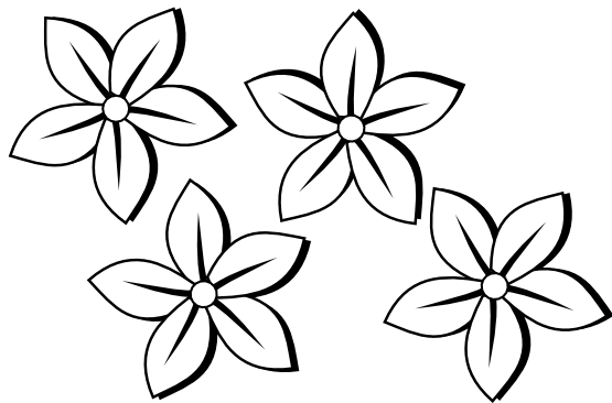 Flower Png Clipart Black And White.
