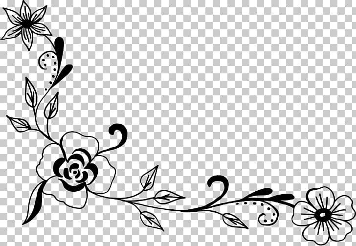 Flower , corner flower PNG clipart.