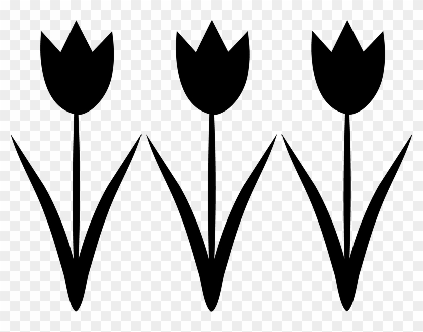 Simple Flowers Black And White Clipart, HD Png Download.