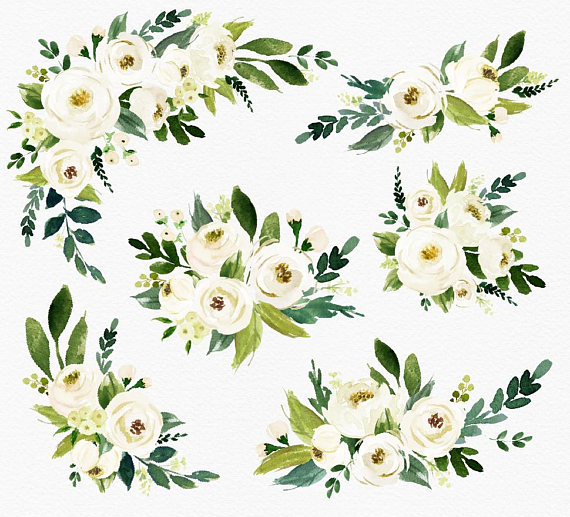 White Flower Clipart Png.