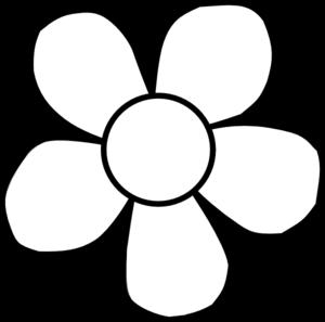 Bold White Flower Clip Art at Clker.
