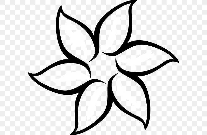 Flower Outline Drawing Clip Art, PNG, 600x536px, Flower.