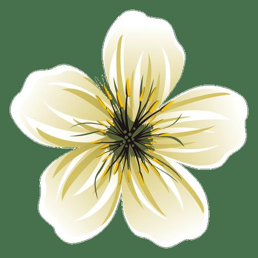 White flower cartoon.