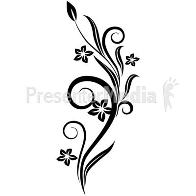 Flower Drawings in Black and White.