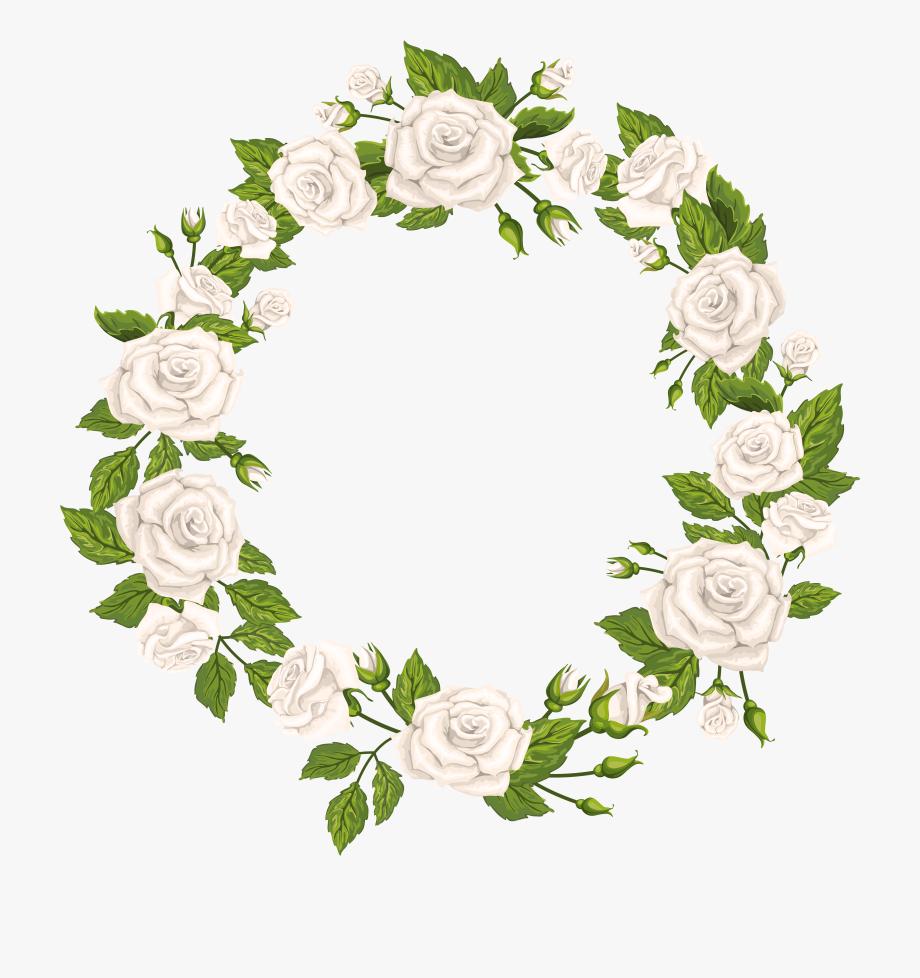 White Flower Border Png.