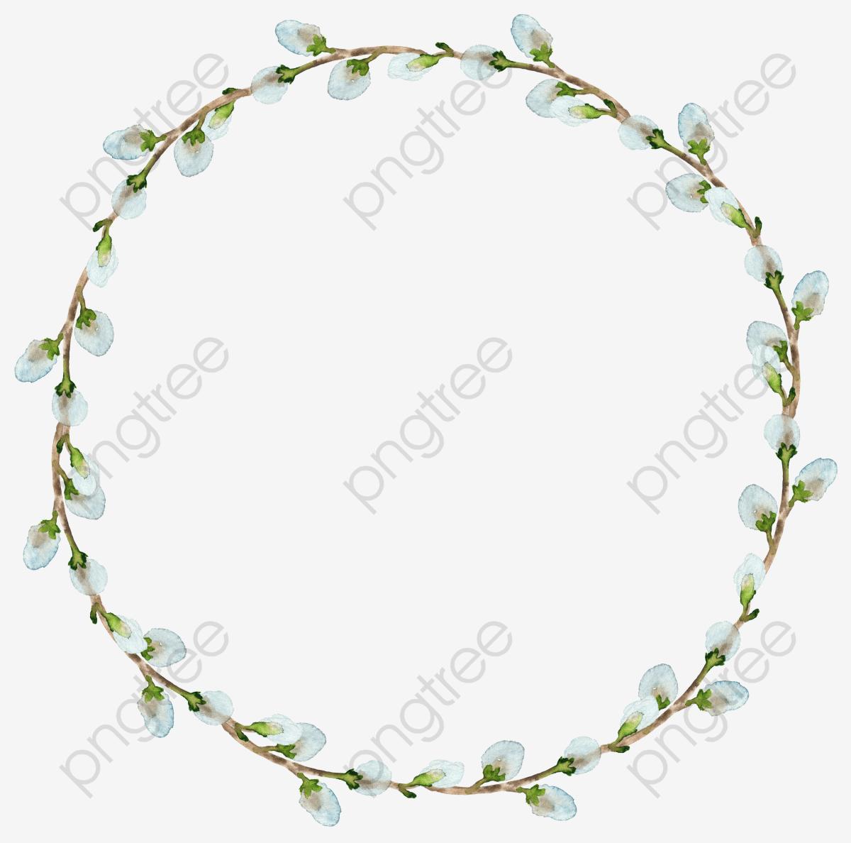 White Flower Wreath, Flower Clipart, Plant, Leaves PNG Transparent.