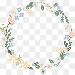 Flower Wreath PNG.