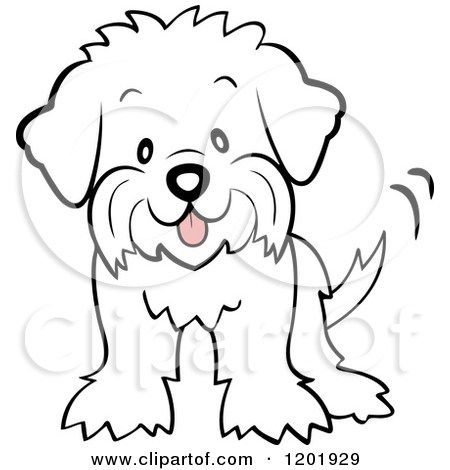 Image result for fluffy dog coloring pages.
