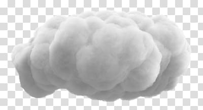 White sky, Very Fluffy Cloud transparent background PNG.