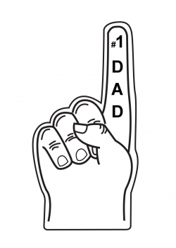 1 clipart foam finger, Picture #207442 1 clipart foam finger.