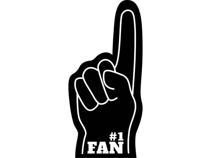 1 Fan Foam Finger Clipart.