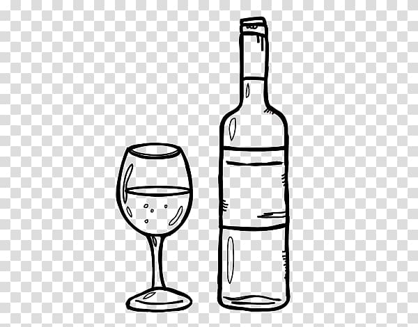 Wine Drawing Bottle Drink Food, wine transparent background.