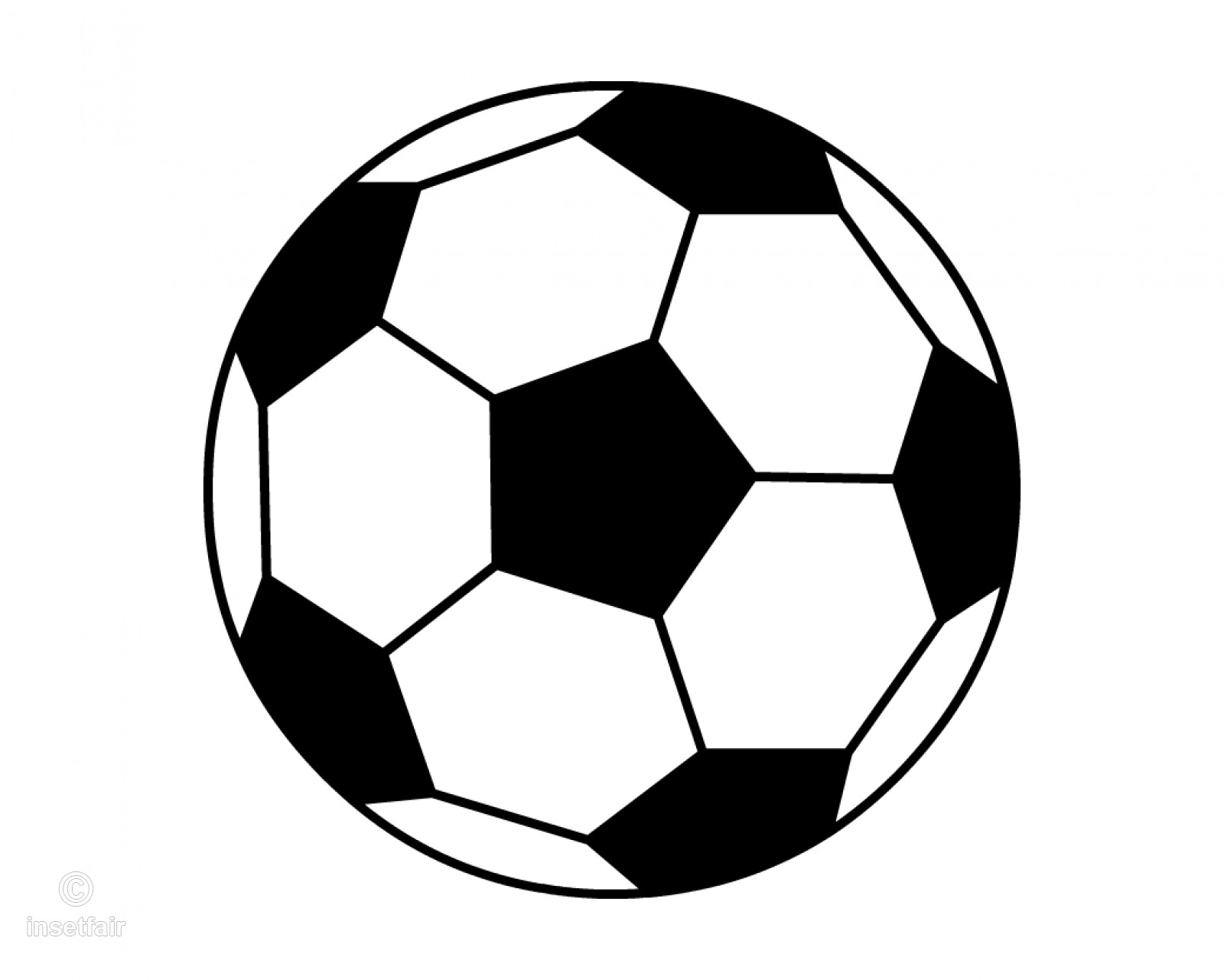 Black and white football clipart Vector PNG image.