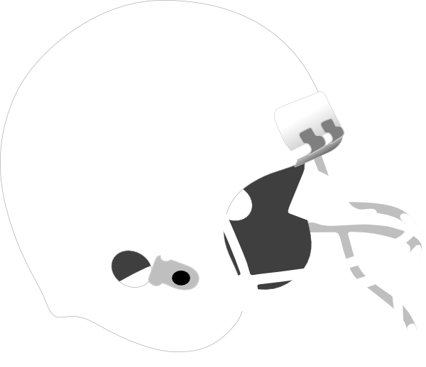 Free White Football Helmet Clipart.