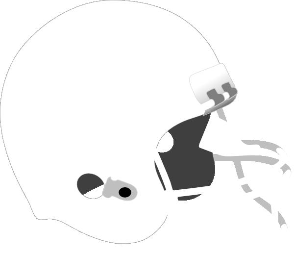 Free White Football Helmet Clipart.