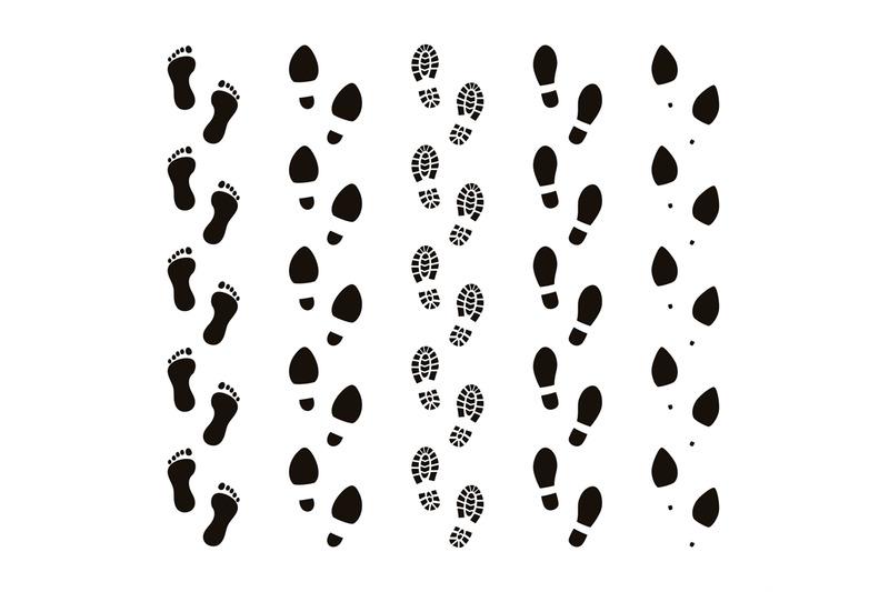Footprint clipart footprint trail, Footprint footprint trail.