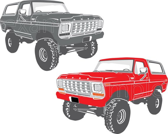 truck svg, Ford Bronco, bronco svg, classic truck svg, Ford.