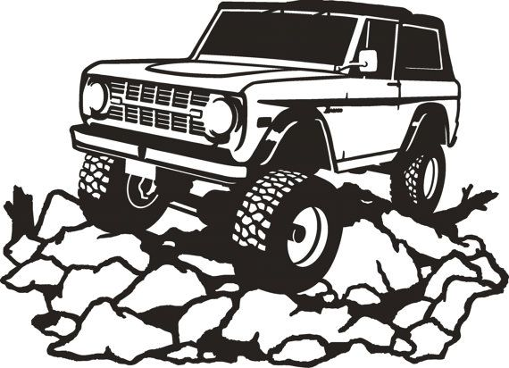 Early Ford Bronco Metal Wall Art by SunsetMetalworks on Etsy.