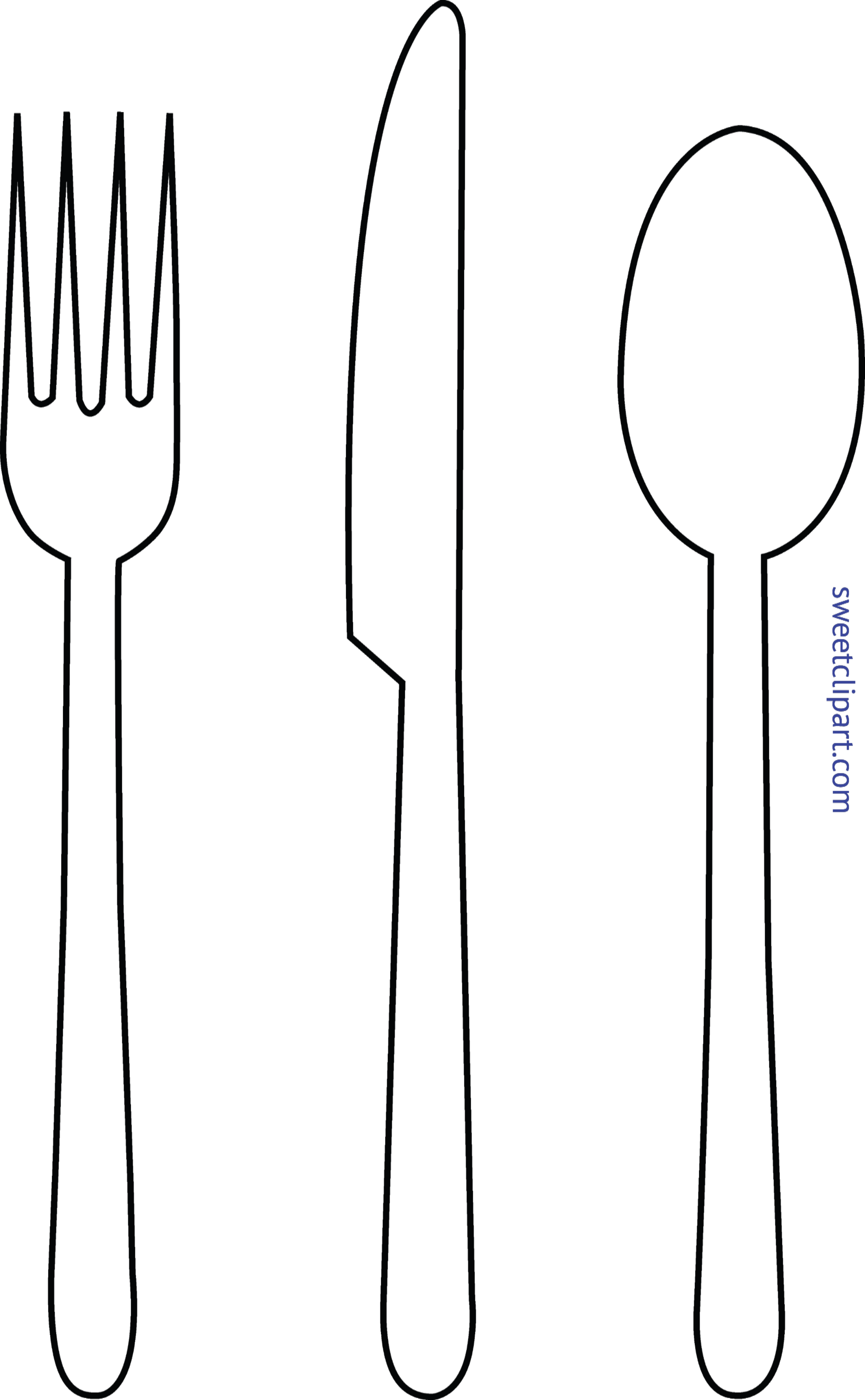 Fork Knife And Spoon Clipart.
