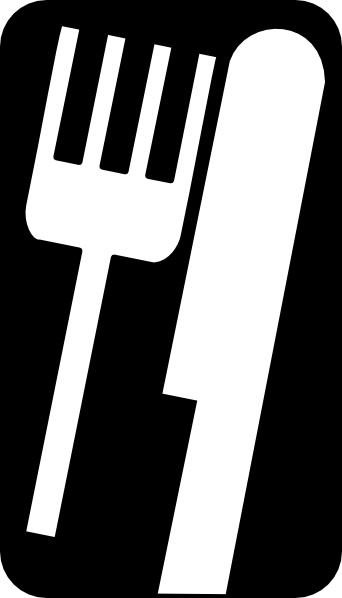 Fork Knife clip art Free vector in Open office drawing svg.