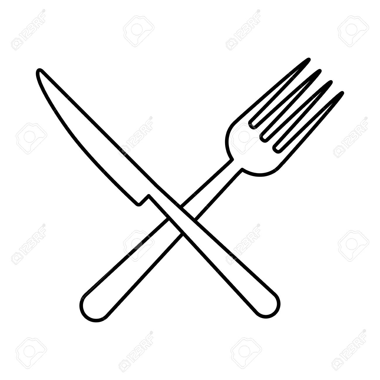 238 Fork And Knife free clipart.