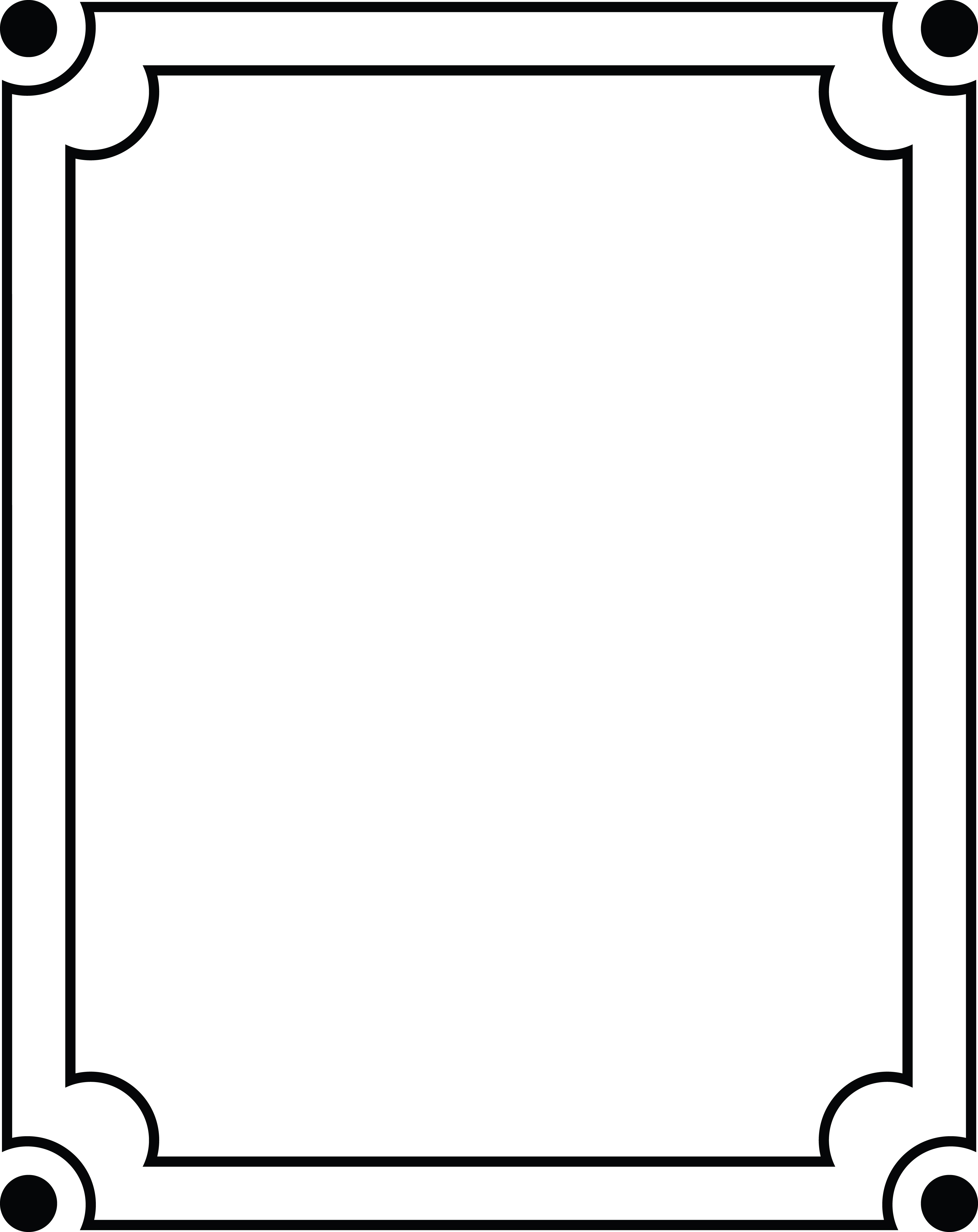 Free Clipart Of A Simple Black and White Frame.
