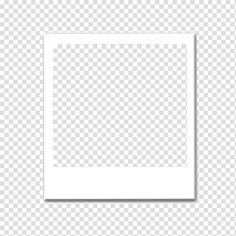 Polaroid, rectangular white frame transparent background PNG clipart.