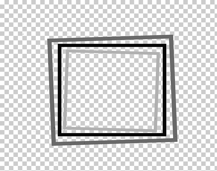Simple square frame, white, black, and gray frame.