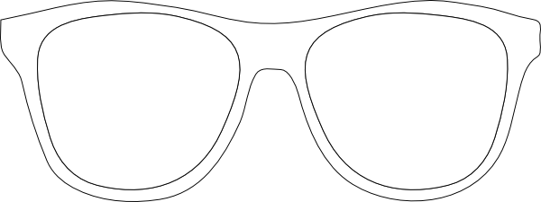 Black And White Sunglass Frames Clip Art at Clker.com.