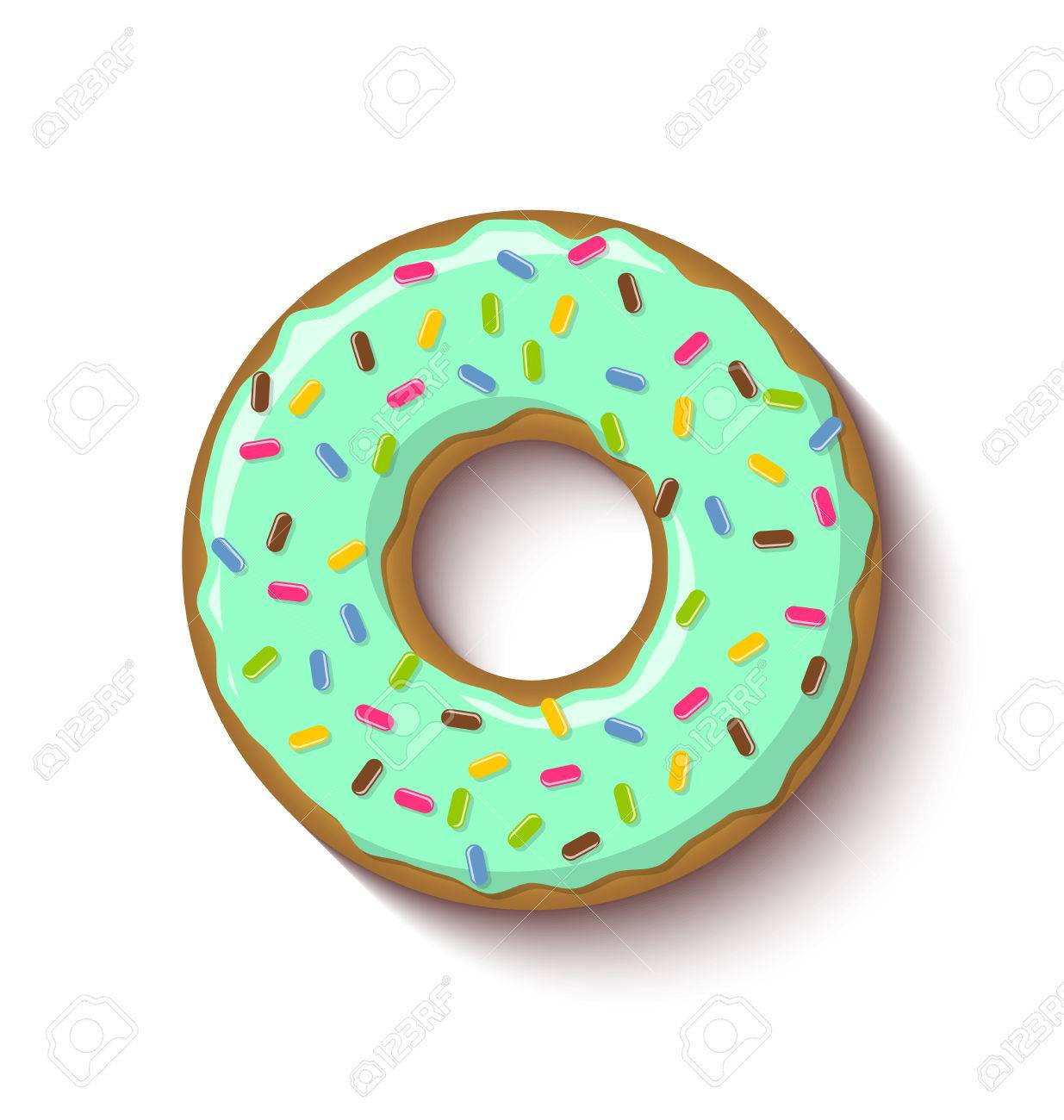 Donut Icing Clipart.