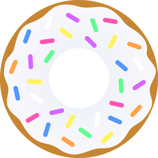 Donuts clipart white icing sprinkle, Donuts white icing.
