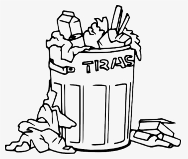 Free Trash Black And White Clip Art with No Background.