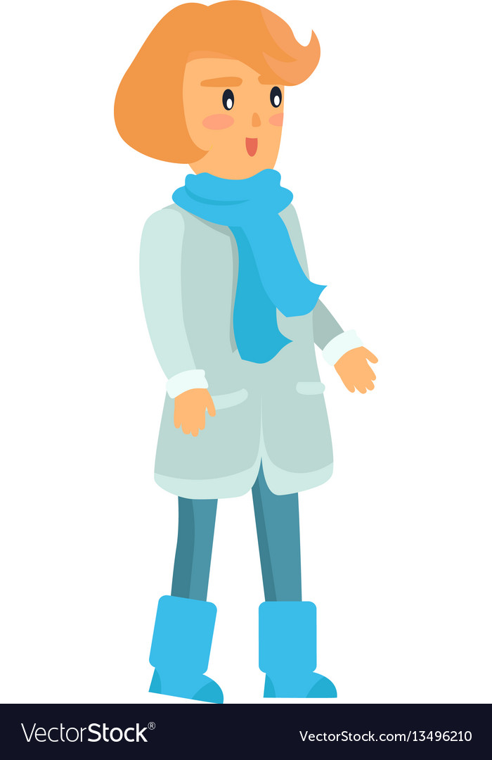 Surprised girl in warm winter clothes isolated.