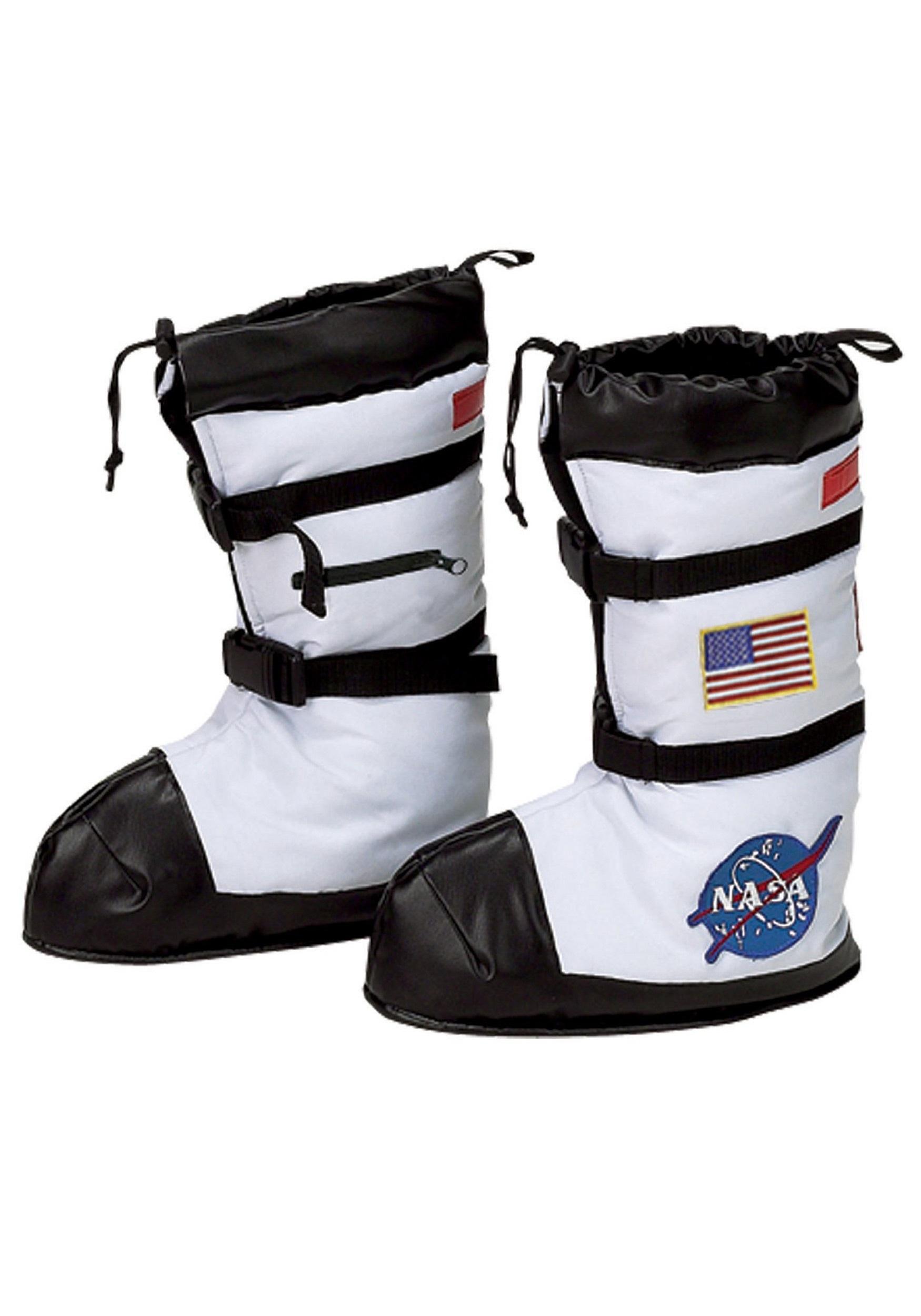 Kids White Astronaut Boots.