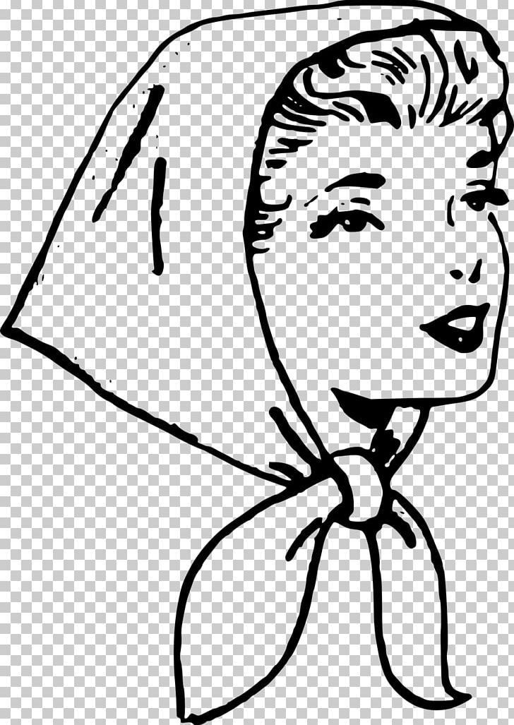Headscarf PNG, Clipart, Art, Artwork, Black, Black And White.