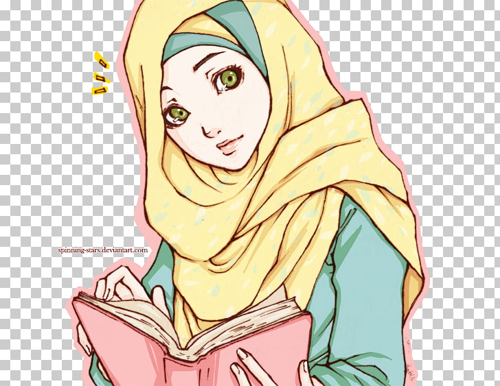 Quran Islam Muslim Anime Drawing, islamic girls, woman.
