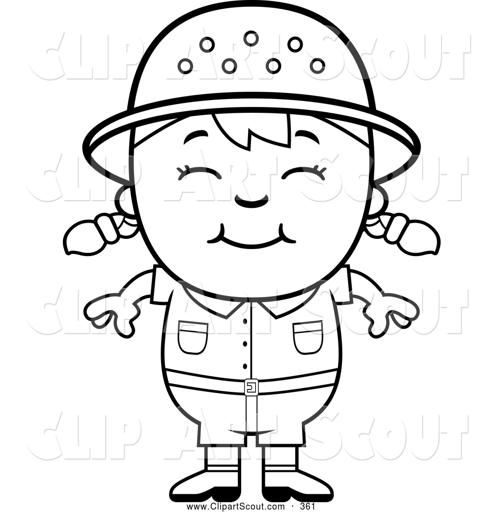 Black and white girls clipart.