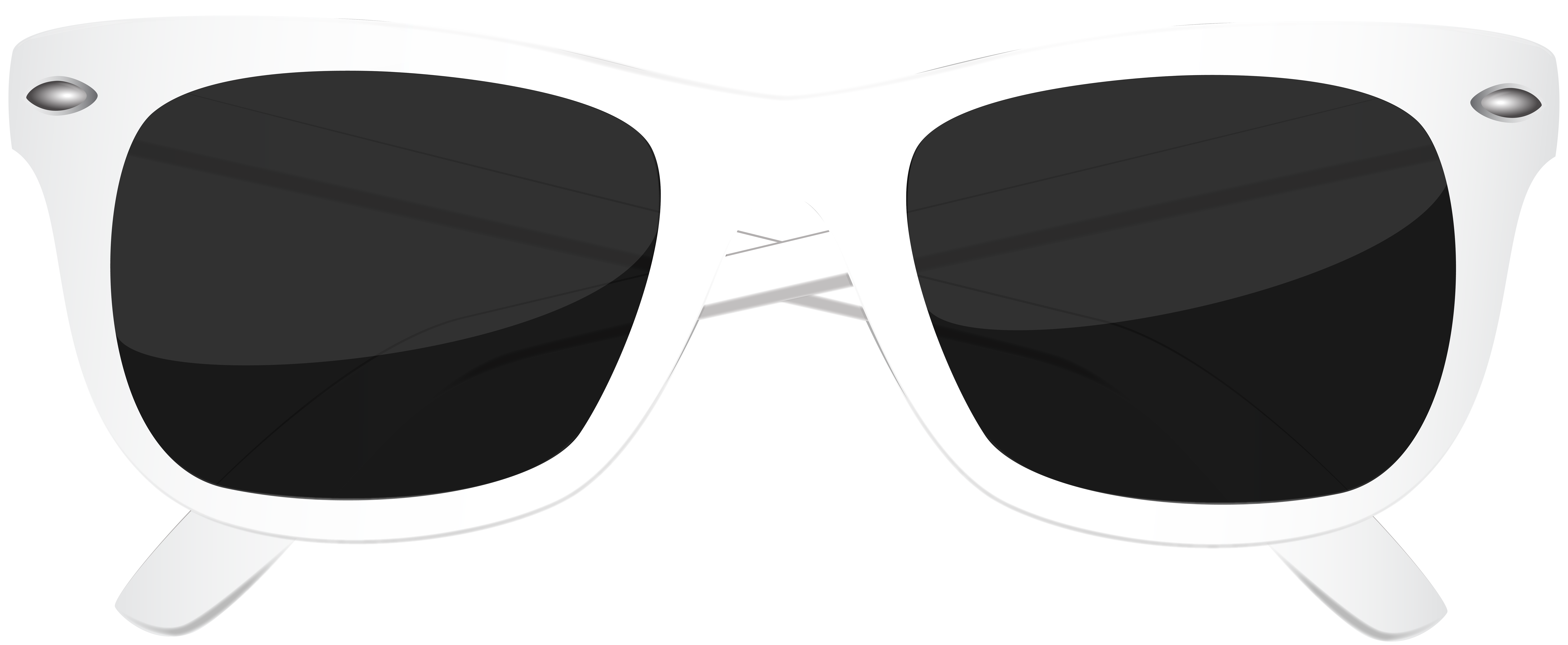 White Sunglasses PNG Clip Art Image.