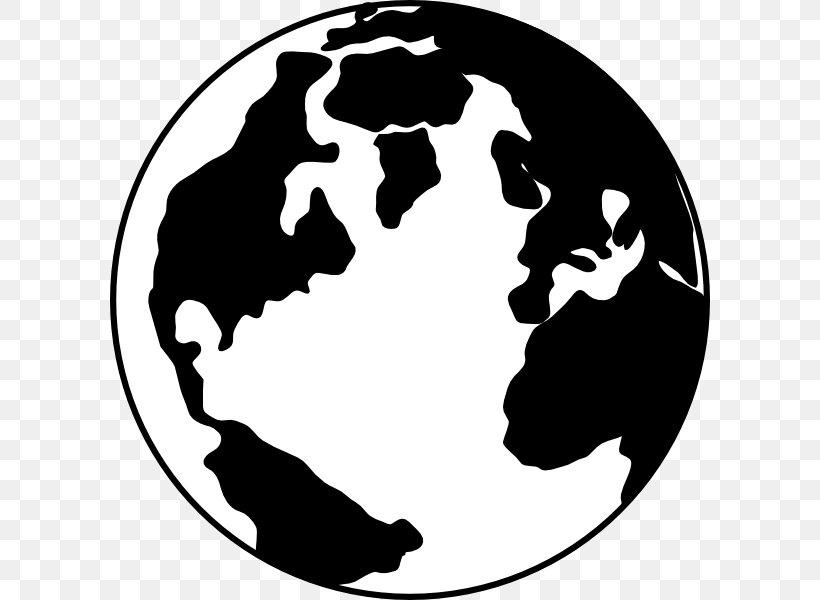 Globe World Black And White Clip Art, PNG, 600x600px, Globe.
