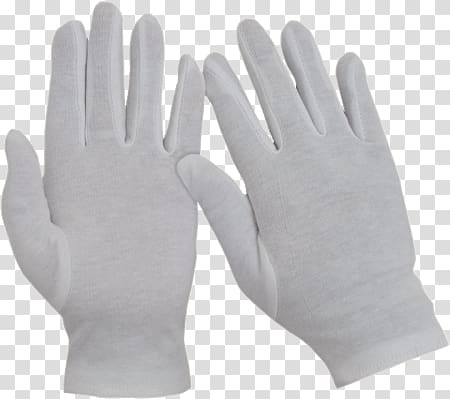 Pair of white hand gloves, White Industrial Gloves.