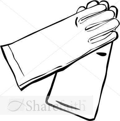 White Gloves Clipart.