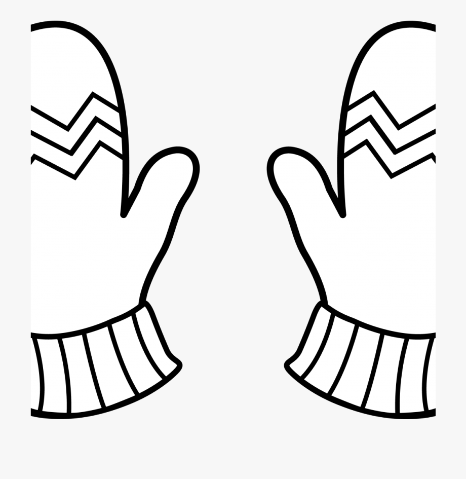 Gloves Clipart Black And White , Transparent Cartoon, Free.