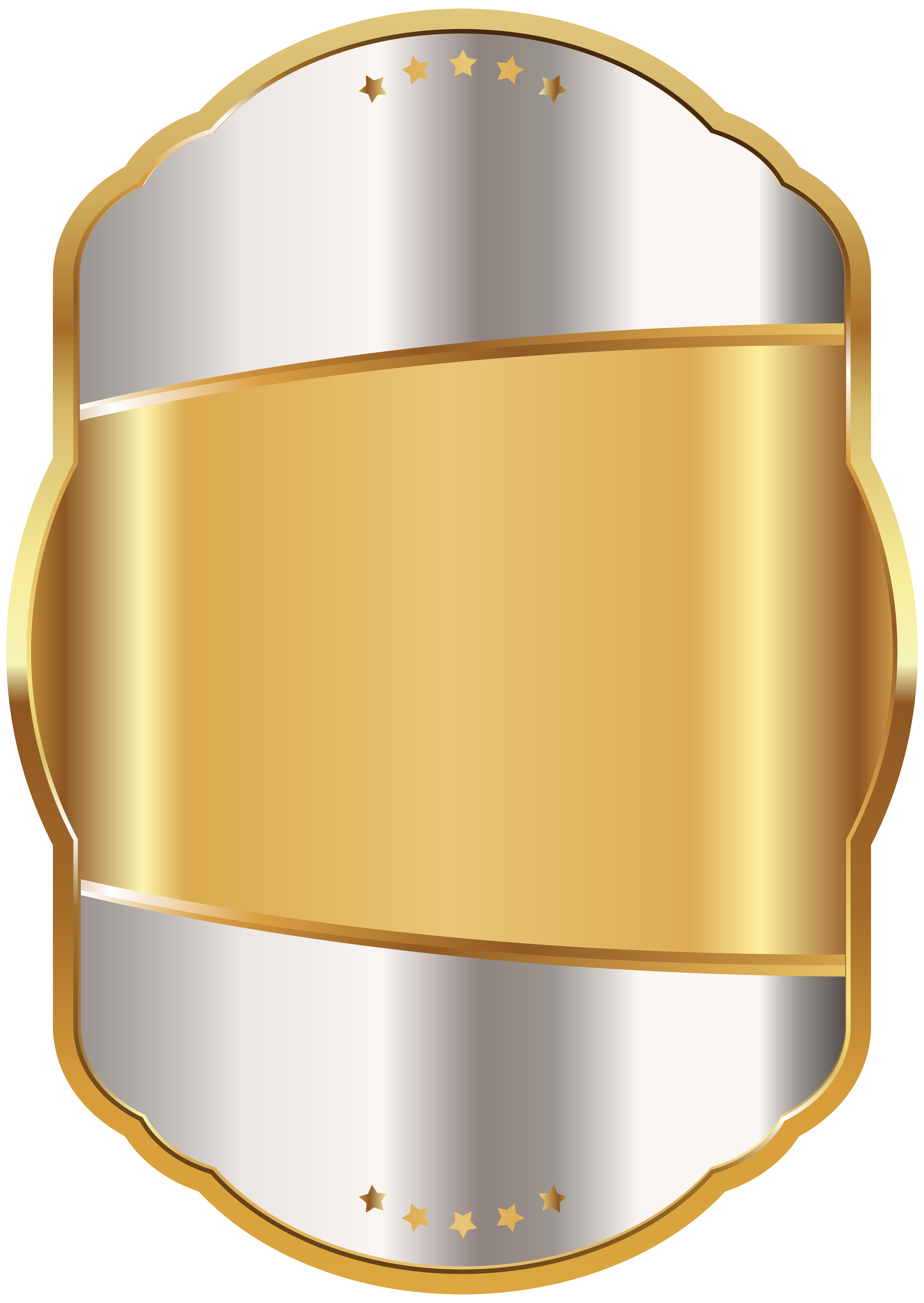 Label Template White Gold Clip Art PNG Image.