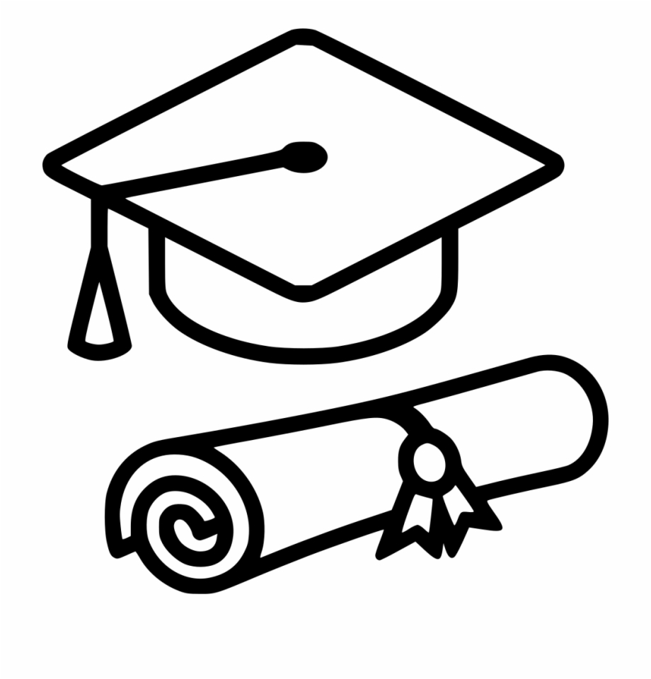 White Graduation Hat Png.