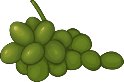 Grapes Black And White Clipart.